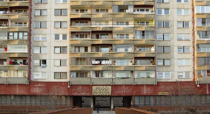 Apartment block in the residential area of Petržalka in Bratislava