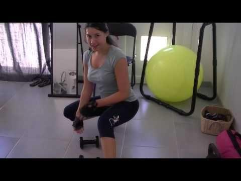 Fitness routine à la maison : affiner ses bras et redresser ses seins #3 - YouTube