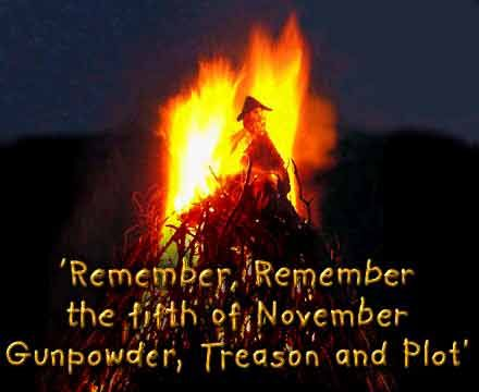 Guy Fawkes Night, celebrated on the 5th of November every year in Britain.