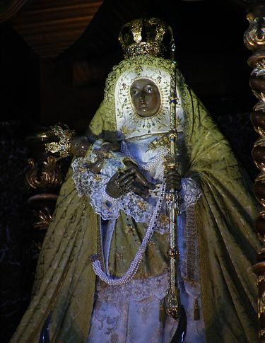 Image of the Virgin of Candelaria, in the Basilica of Candelaria (Tenerife)
