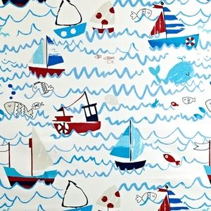 Waves Marine 100% Cotton 137cm wide | 64cm Curtaining