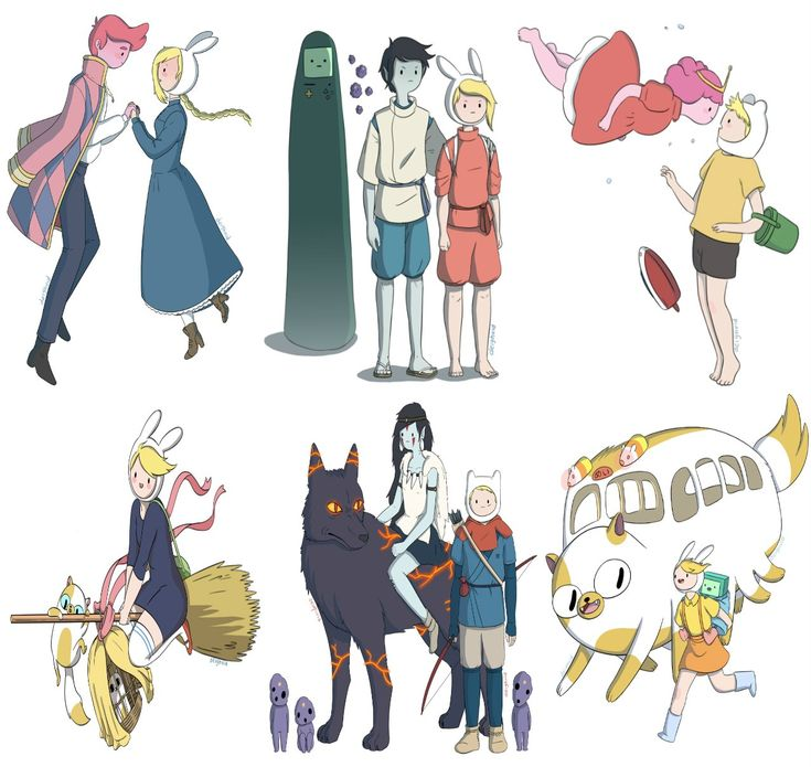 Studio Ghibli films with Adventure Time characters - Imgur