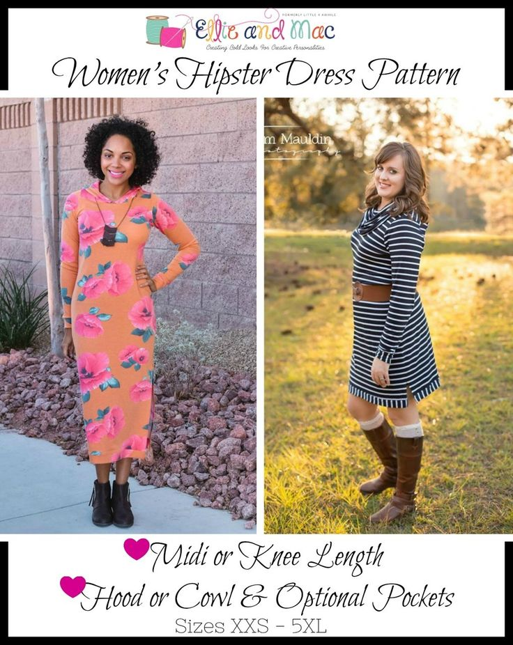 Women's Hipster Dress Pattern