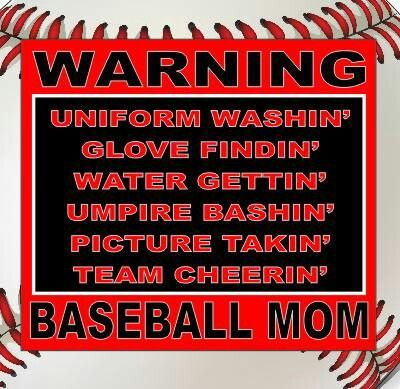 Yes, this is me.  Baseball Mom