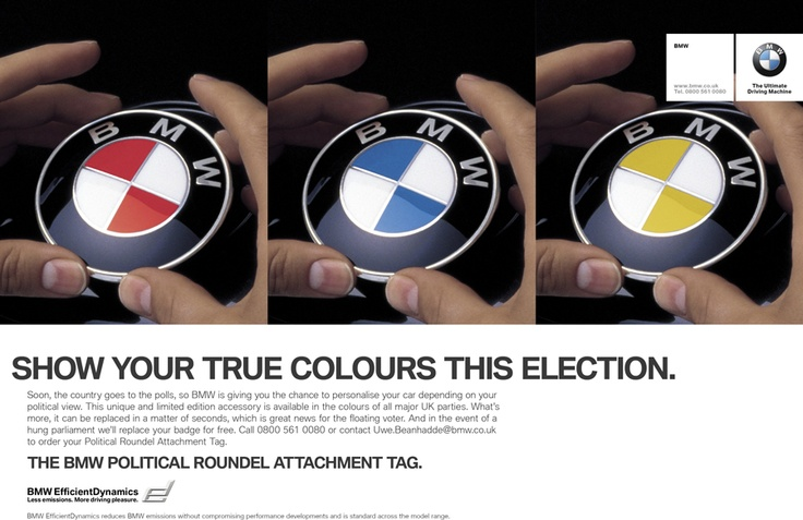 Picture of April Fools day advert - Election badges