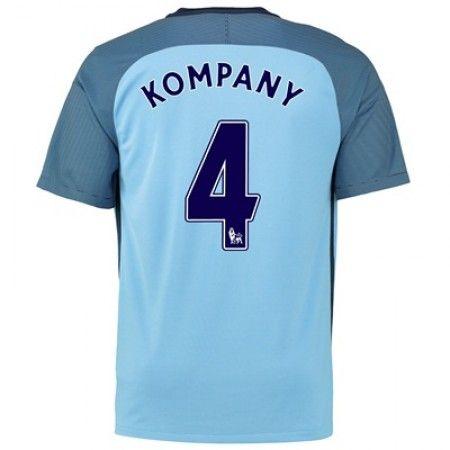 Manchester City 16-17 Vincent #Kompany 4 Hjemmebanesæt Kort ærmer,208,58KR,shirtshopservice@gmail.com