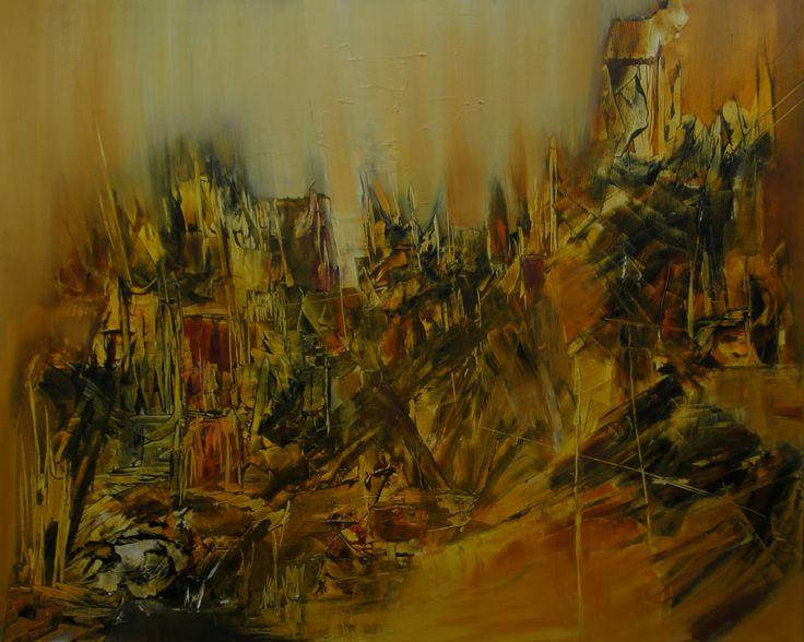 """Troya"" - Mónica Medina - Oleo sobre tela - 100 x 90 cm www.esencialismo.com"