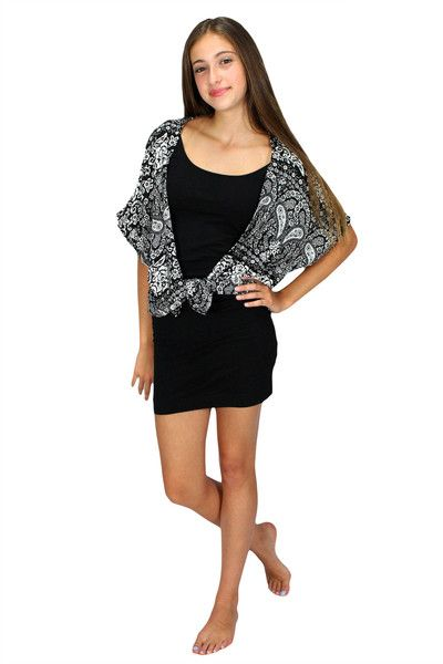 The kimono is the hottest girls fashion piece of the season! This versatile top can be worn to complete many outfits. It will add a special touch to your jeans, dresses, shorts, skirts or leggings!