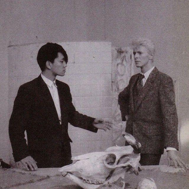 坂本龍一 Ryuichi Sakamoto & David Bowie (RARE PHOTOGRAPH)