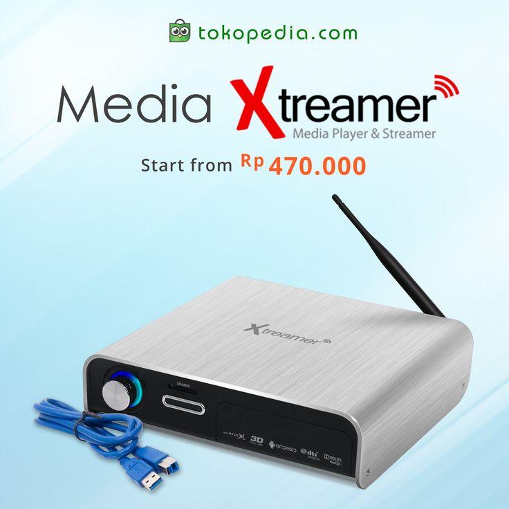 Mainkan beragam film keren berformat biasa hingga HD di rumah dengan media player Xtreamer ini. Cukup colok hard disk atau USB flash disk kamu ke Xtreamer dan kamu bisa langsung menikmati film HD di TV.  Yuk beli di Tokopedia sekarang juga. Harga mulai dari Rp 470.000,- (harga bervariasi), bisa kamu dapatkan di https://www.tokopedia.com/hot/media-player-xtreamer