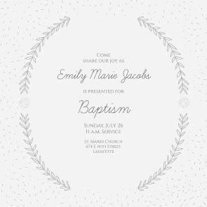 imprintable baptism invitations