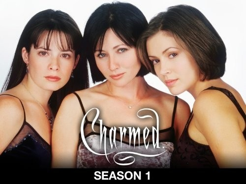 """Synopsis: Sisters Prue and Piper Halliwell have recently moved into their dead grandmother's old victorian home in the San Francisco hills and when youngest, black-sheep sister Phoebe moves in with them, they discover they are descendents of an ancient Wiccan prophecy - the """"Charmed Ones,"""" the most powerful good witches.Starring: Shannen Doherty, Holly Marie Combs"""