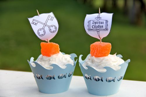 6/29 Catholic Cuisine: Saints Peter and Paul Cupcakes