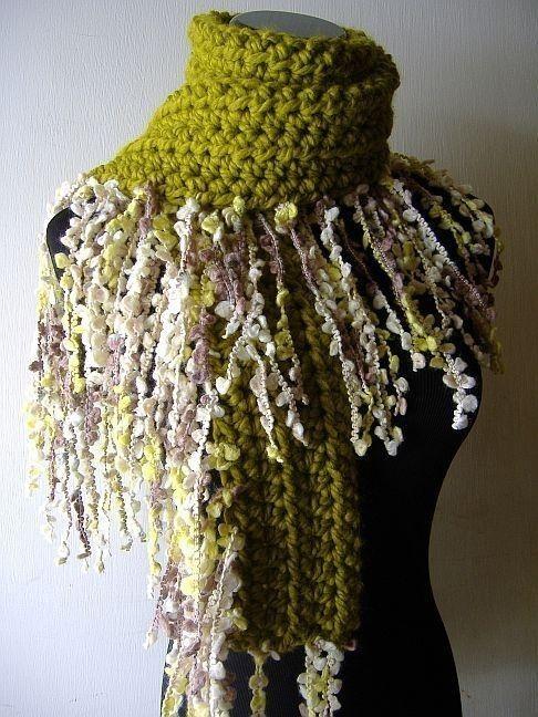 Crochet edging inspiration {Irish Fringe Scarf} | CROCHET ...