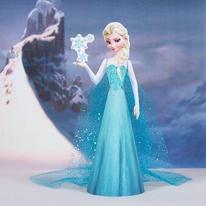 Anniversaire reine des neiges - Paper doll Elsa
