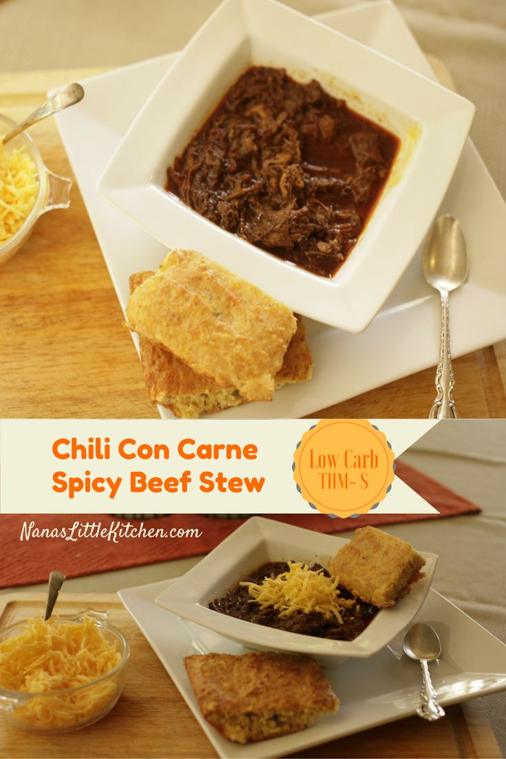 Nana's Little Kitchen - Chili Con Carne Spicy Beef Stew in a healthy, low carb, THM-S Version