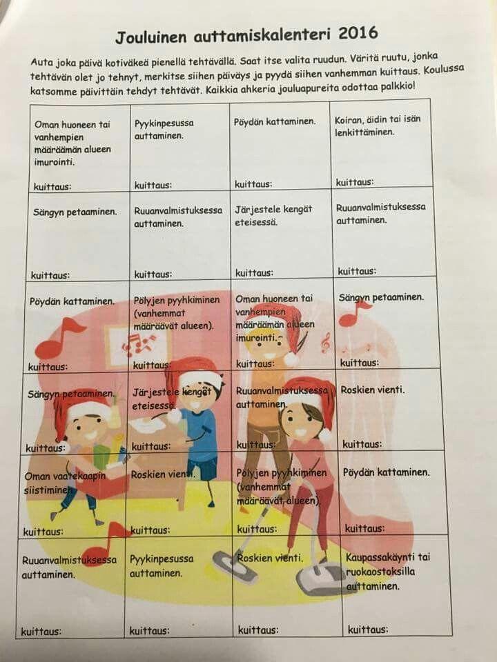 Jouluinen puuhakalenteri