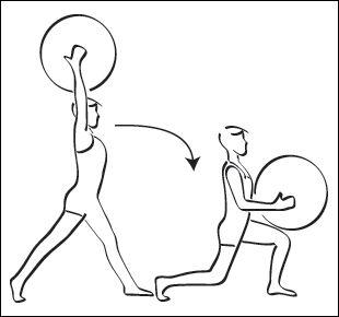 FITNESS : Exercice ball, swiss ball : exercice fessiers N-04 - Easygym.com
