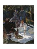 Claude Monet - Breakfast in the Greenery Digitálně vytištěná reprodukce