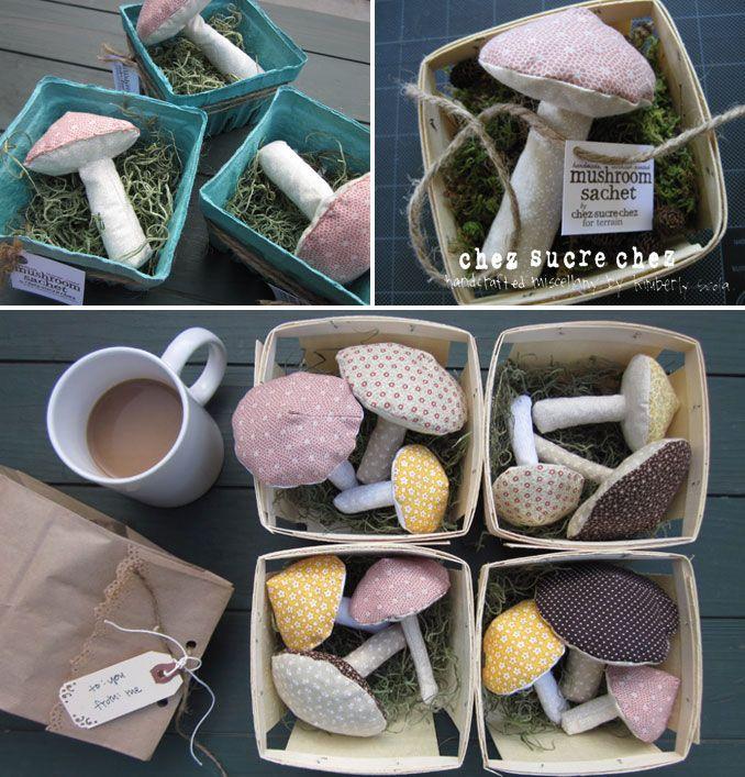 Sachet de lavande champignon