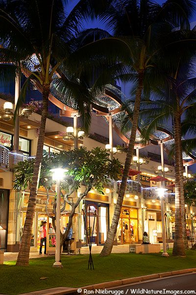 Waikiki Shopping Pictures.  The shops were unbelievable!