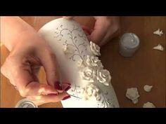 DIY Украшение свадебного шампанского часть 1. Decoration Wedding champagne part 1 - YouTube