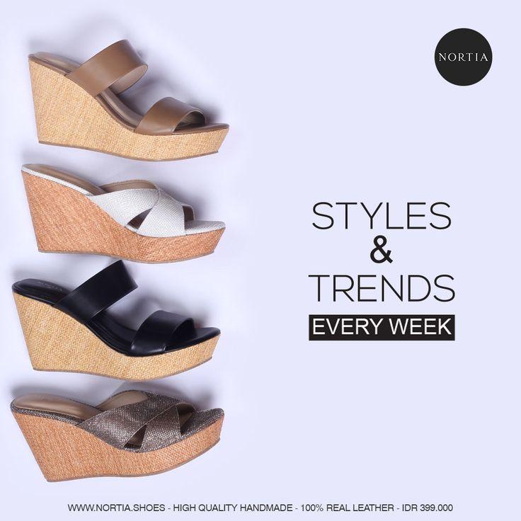 Always be stylish Smart Ladies! Go visit www.nortia.shoes #brandnew #wedges #women #fashion #smartlooks