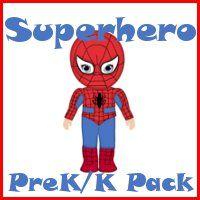 Free Superhero PreK/K Packs