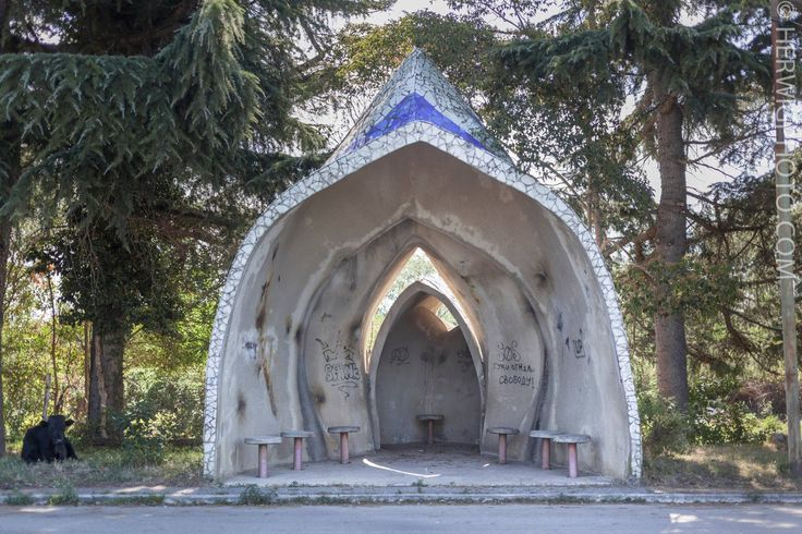 Soviet Bus Stops - Christopher Herwig - Pitsunda, Abkhazia