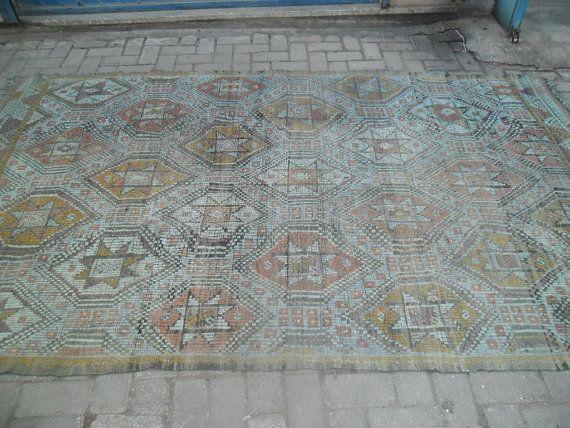 Alfombra turca alfombra hecha a mano alfombra vintage gris kilim antiguo lana grande área kilim alfombra kilim vintage alfombras kilim alfombras baratas kilim270x160cm