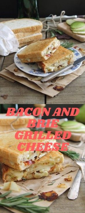 BACON AND BRIE GRILLED CHEESE  This pear solon and brie grilled cheese with cara…