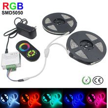 US $14.17 LED Strip RGB Light Led Diode Tape Waterproof RGB Flexible Strip LED SMD 5050 4M 5M 15M 10M 20M+Touch Controller+DC12V Power. Aliexpress product