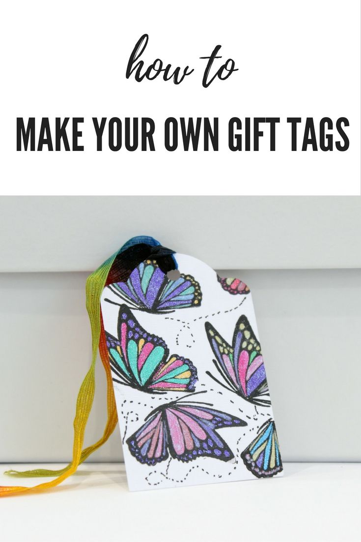 Make your own personalised gift tags for every occasion