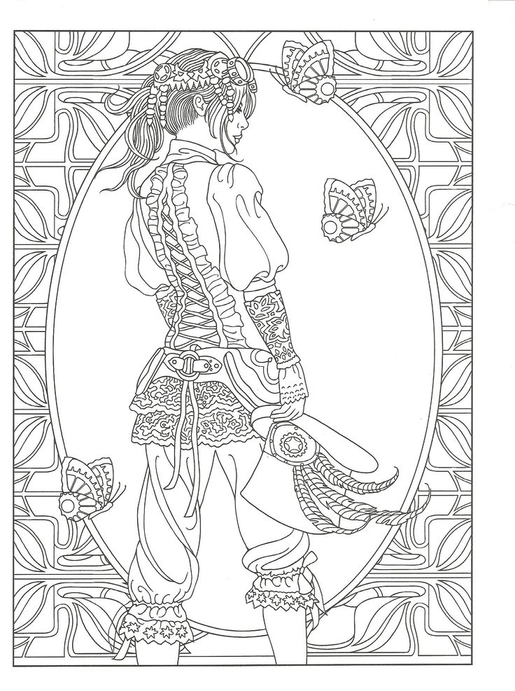 Elaborate fairy coloring pages
