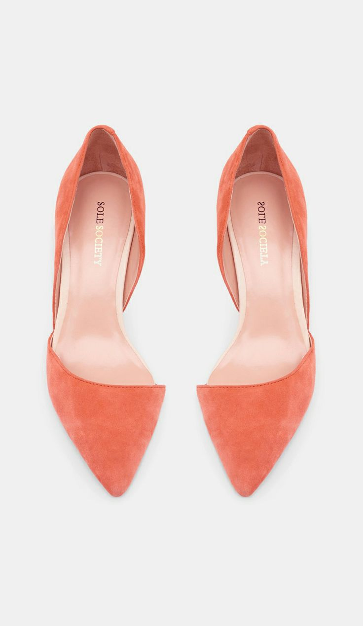 Shoes, coral, womens fashion