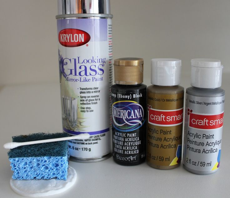 Before supplies krylon looking glass mirror like spray for Can you paint candles with acrylic paint