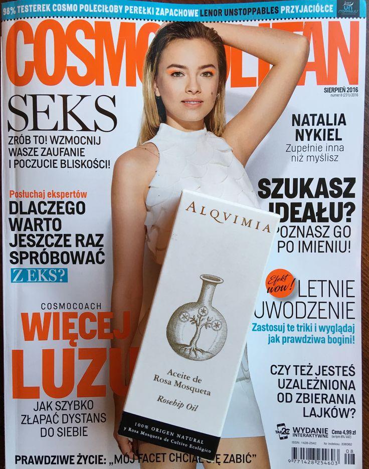 Róża Mosqueta #alqvimia w #cosmopolitan Polska  100% naturalny nierektyfikowany olej  z Róży Mosqueta