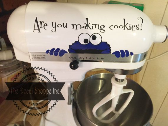 Kitchen Aid Decal Mixer Decal Cookie Monster by TheDecalShoppeInc                                                                                                                                                                                 More