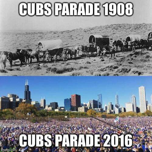 Times have changed in these 108 years gap between the 3 World Series victory of the Chicago Cubs