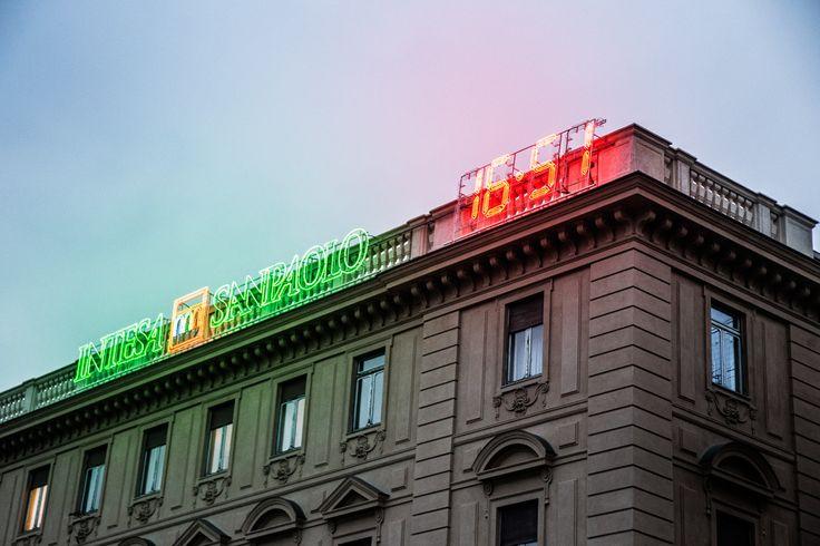 Orologio elettronico piazza San Carlo #Torino