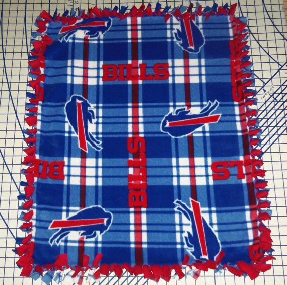 Buffalo Bills Fleece Baby Blanket Plaid Hand Tied Pet Lap