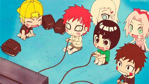Narutinho, Gaara kawaii, Lee antes do Jooj, Kiba para de ser perfeito <3 e para completar as inúteis fofinhas!