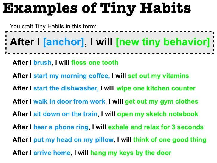 tiny habit - Google Search
