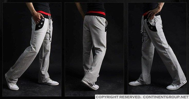 Мужские серые спортивные штаны