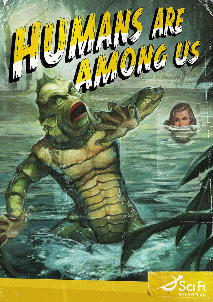 The first ad is a spoof of film posters for the 1954 movie, Creature from the Black Lagoon. Description from theinspirationroom.com. I searched for this on bing.com/images