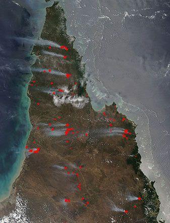 Fires across Cape York Peninsula, Australia
