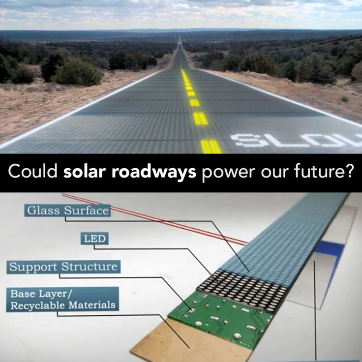 Imagine a road system that powers the entire nation, powers electric vehicles, communicates with vehicles, de-ices itself, reduces animal impacts, pays for itself, and is made from recycled materials. Meet the solar roadway:  http://solarroadways.com/intro.shtml