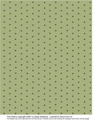 Edwardian Green Printable Miniature Wallpaper and Fabric Designs