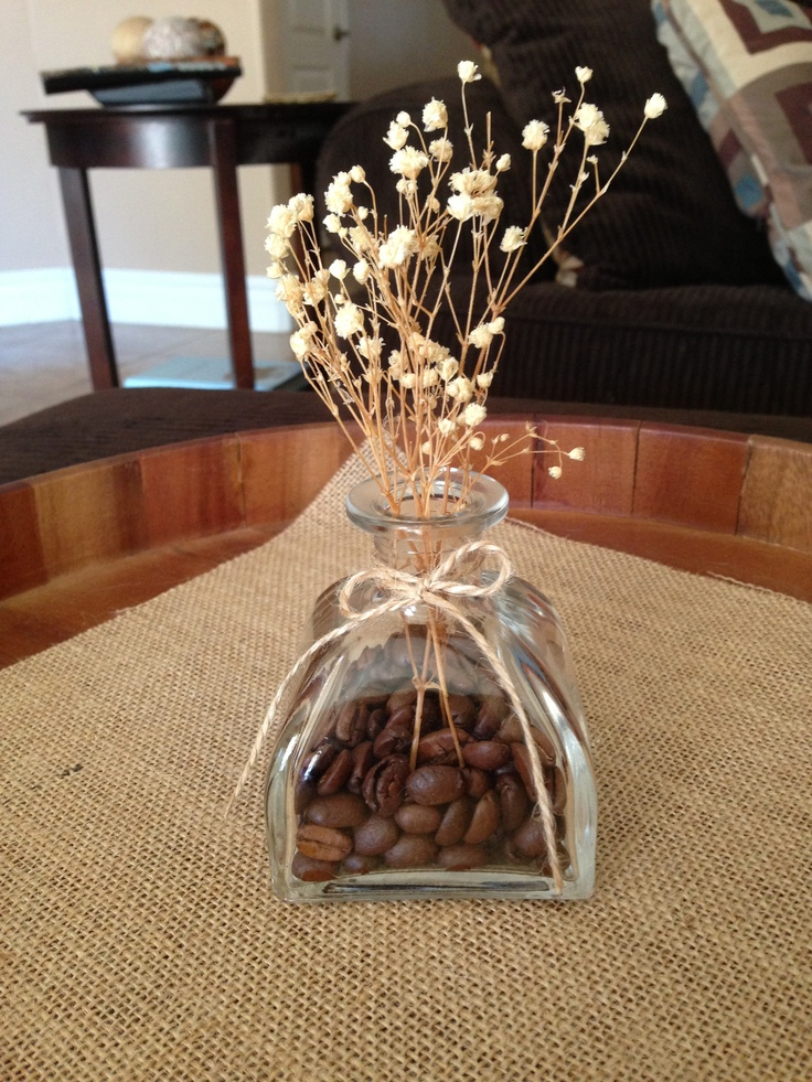 Old Reed Diffuser Bottle Filled With Coffee Beans Clever