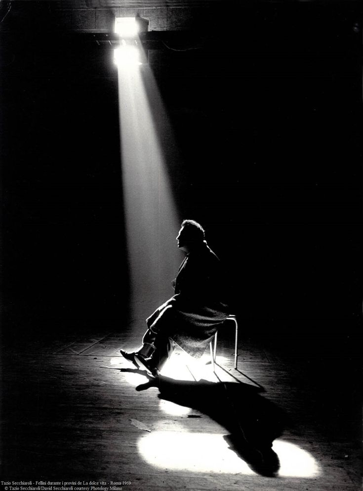 Fedrico Fellini by Tazio Secchiaroli.
